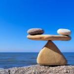 balance stones and lake