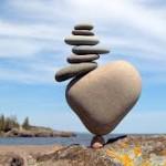 balance stones in heart shape